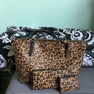 Leopard print Coach purse, wallet, coin purse